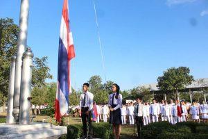 พิธีเคารพธงชาติและร้องเพลงชาติไทย เนื่องในวันชาติ วันที่ 5 ธันวาคม พุทธศักราช 2561